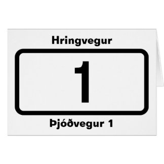 Þjóðvegur 1 (Route 1) Hringvegur (Ring Road) Card