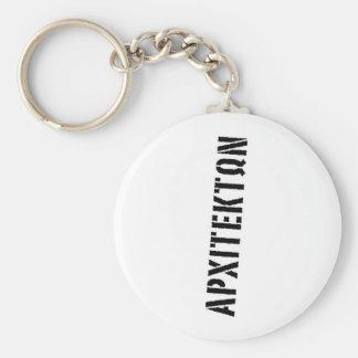 ΑΡΧΙΤΕΚΤΩΝ΄ς κευς Basic Round Button Keychain