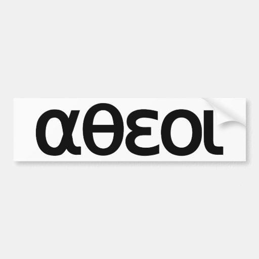 αθεοι (Atheoi) Pegatina Para Auto
