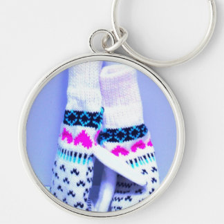 """εїз✿♥""""Lean On Me"""" Яömǻñtî¢  Keychain♥✿εїз Silver-Colored Round Keychain"""