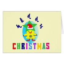 εїз✿♥Merry X-Mas Chicken-Santa Greeting Card♥✿εїз Card