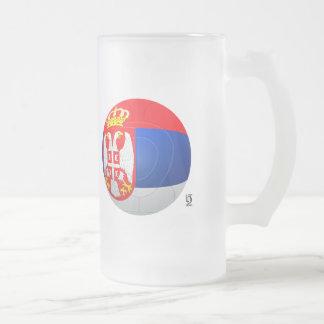 Бели Орлови - Serbia Србије Football Frosted Glass Beer Mug