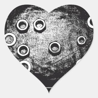 Вolt and nut heart sticker