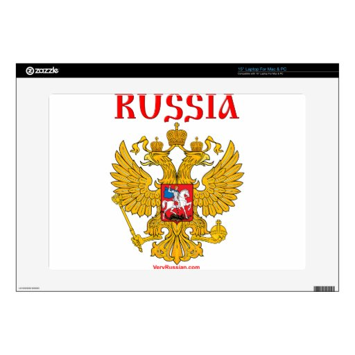 Герб России RUSSIA Coat of Arms Laptop Decal