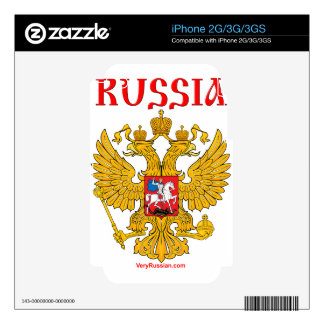 Герб России RUSSIA Coat of Arms Decals For The iPhone 3G