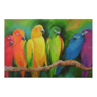 Попугаи Австралии Wood Wall Art