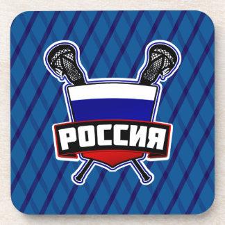 России Russian Lacrosse Drinks Mats Beverage Coaster