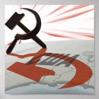 """""""США"""" América comunista Póster"""