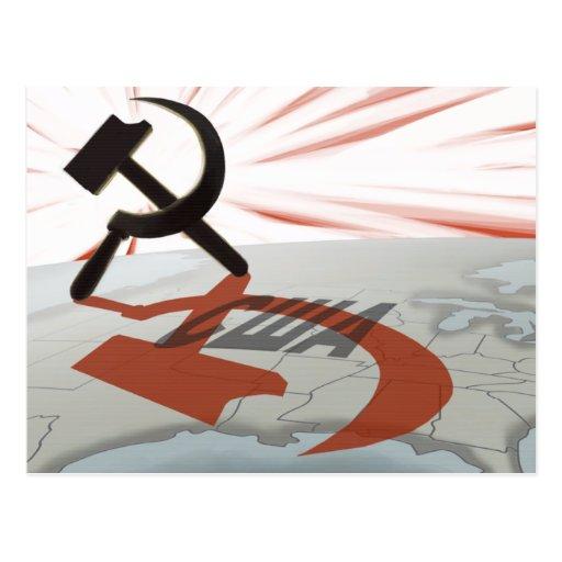 """""""США"""" América comunista Postal"""