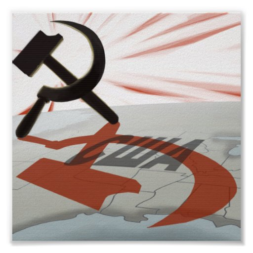 """США"" Communist America Print"