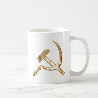 Серпимолот de los símbolos de Rusia soviética Taza Clásica