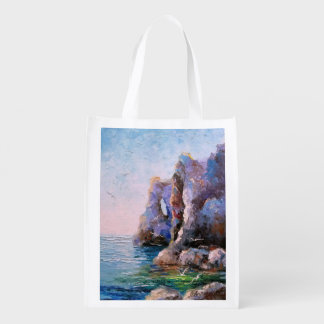 Скалистый берег reusable grocery bag