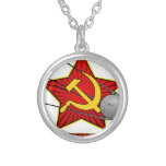 Спутник Sputnik poster art Necklace