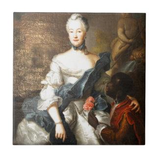Сaroline de Hesse Darmstad con ella amarra Azulejo Cuadrado Pequeño