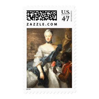 Сaroline de Hesse Darmstad con ella amarra Estampillas