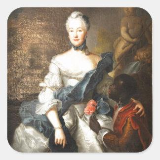 Сaroline de Hesse Darmstad con ella amarra Pegatina Cuadrada