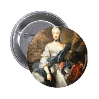 Сaroline de Hesse Darmstad con ella amarra Pin Redondo De 2 Pulgadas