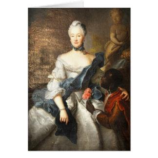 Сaroline de Hesse Darmstad con ella amarra Tarjeta De Felicitación