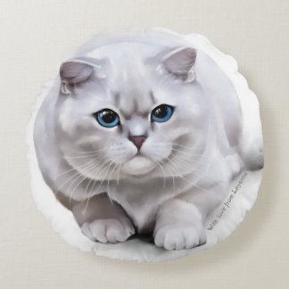 Сat breed British Shorthair Round Pillow