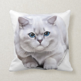 Сat breed British Shorthair Throw Pillow