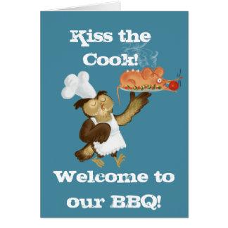 Сhef Owl cook Greeting Card