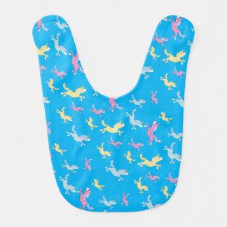 Сute Fun Unicorn cartoon pattern Bib