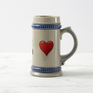 Я тебя люблю - I love you in Russian Beer Stein
