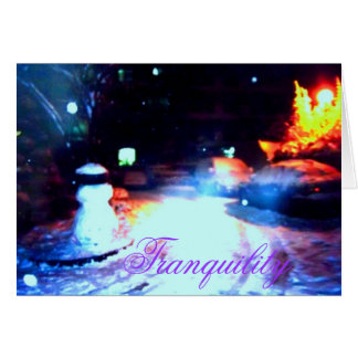 •·♥Яömǻñtî¢ Snowy Night Scene Greeting Card♥·• Card