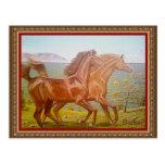 лошади на Байкале Post Card