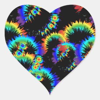 радужные кольца б б у heart sticker