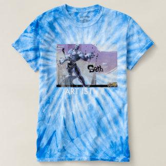 футболка узелковый батик королевский tee shirt