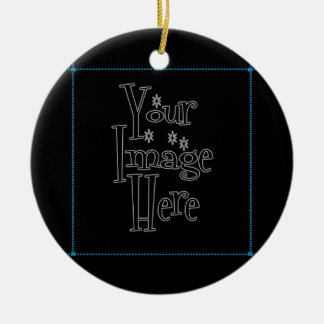 ѺѲѻѳо●•◦ CREATE YOUR OWN - PERSONALIZE BLANK Ceramic Ornament
