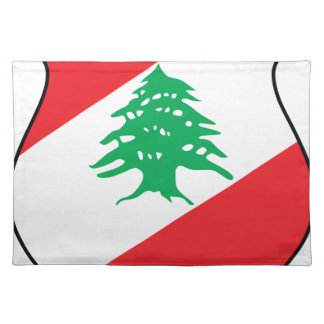 شعار لبنان Lebanese Emblem Coat of arms Lebanon Placemat
