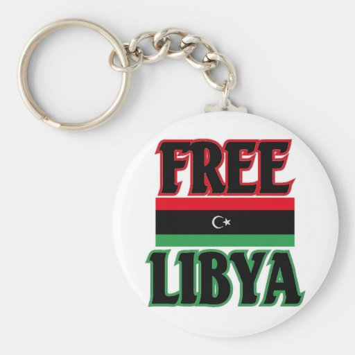 ليبياالحرة libre de Libia - Libia Llavero Redondo Tipo Pin