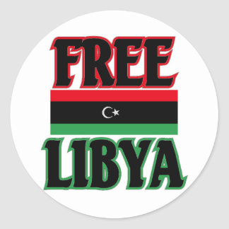 ليبياالحرة libre de Libia - Libia Pegatina Redonda