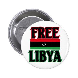 ليبياالحرة libre de Libia - Libia Pin Redondo De 2 Pulgadas