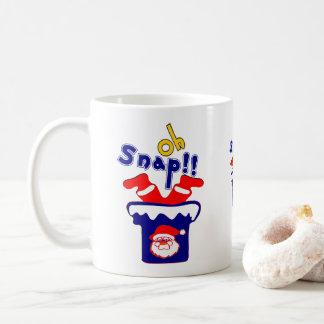 🎅ټOh! Sanp, Clumsy Santa Stuck in a Chimney Class Coffee Mug