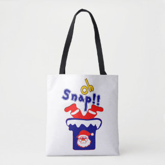 🎅ټOh! Sanp, Santa Stuck in a Chimney Eco-Friendly Tote Bag
