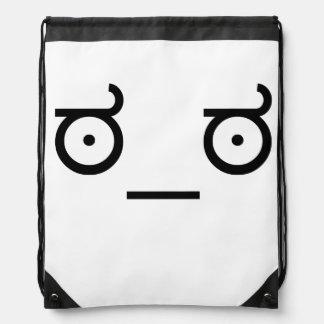ಠ_ಠ Look of Disapproval ASCCI Emoticon Text Art Fa Drawstring Bags