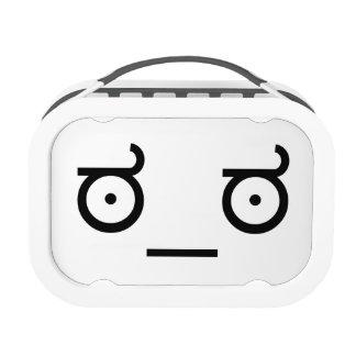 ಠ_ಠ Look of Disapproval ASCCI Emoticon Text Art Lunch Boxes