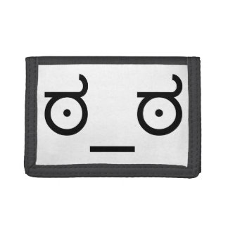 ಠ_ಠ Look of Disapproval ASCCI Emoticon Text Art Tri-fold Wallets