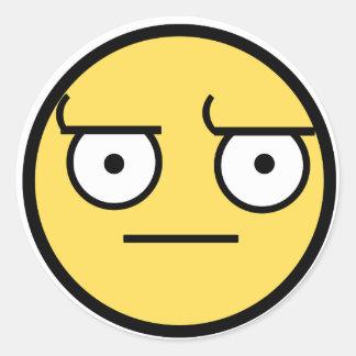ಠ_ಠ Look of Disapproval Classic Round Sticker