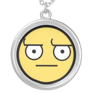 ಠ_ಠ Look of Disapproval Round Pendant Necklace