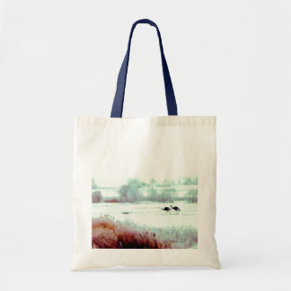 ♠»¦๑A Lovely Pair of Cranes Budget Tote Bag N๑¦«♠