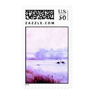 ♠»¦๑A Lovely Pair of Cranes Postage Stamp๑¦«♠
