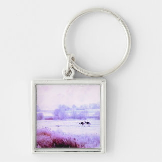 ♠»¦๑A Lovely Pair of Cranes Premium Keychain ๑¦«♠