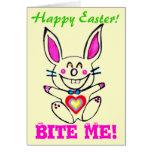 ♠»¦๑Çütê Naughty Bunny HappyEaster Card๑¦«♠ Card