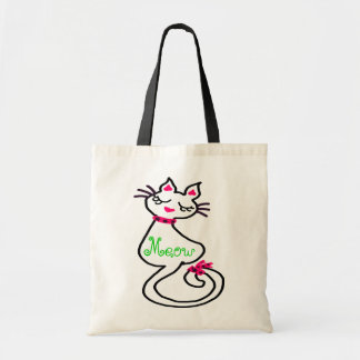 »¦๑Swanky Adorable Kitty Budget Tote Bag๑¦« Canvas Bags
