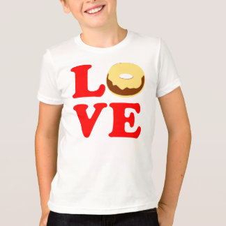 ღ♥ټLove Donut Kids' Vintage-inspired Ringer Teeټ♥ღ T-Shirt