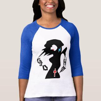 ღ╬♥Goth Girl  3/4 Sleeve Raglan (Fitted)♥╬ღ T-Shirt